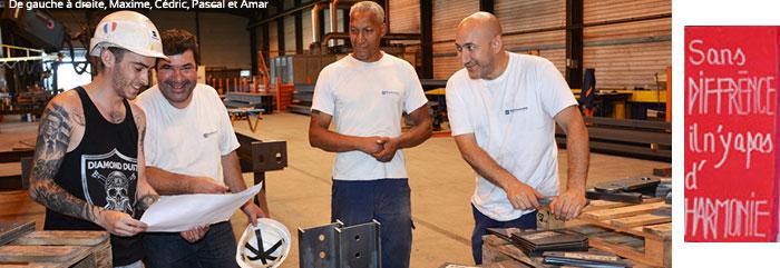 L'équipe soudée de l'Atelier Charpente métallique