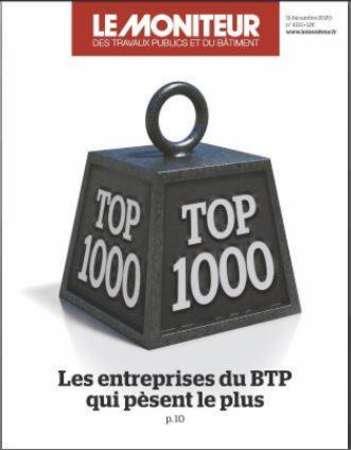 Photo de l'actualité Le Top 1000 des entreprises du BTP